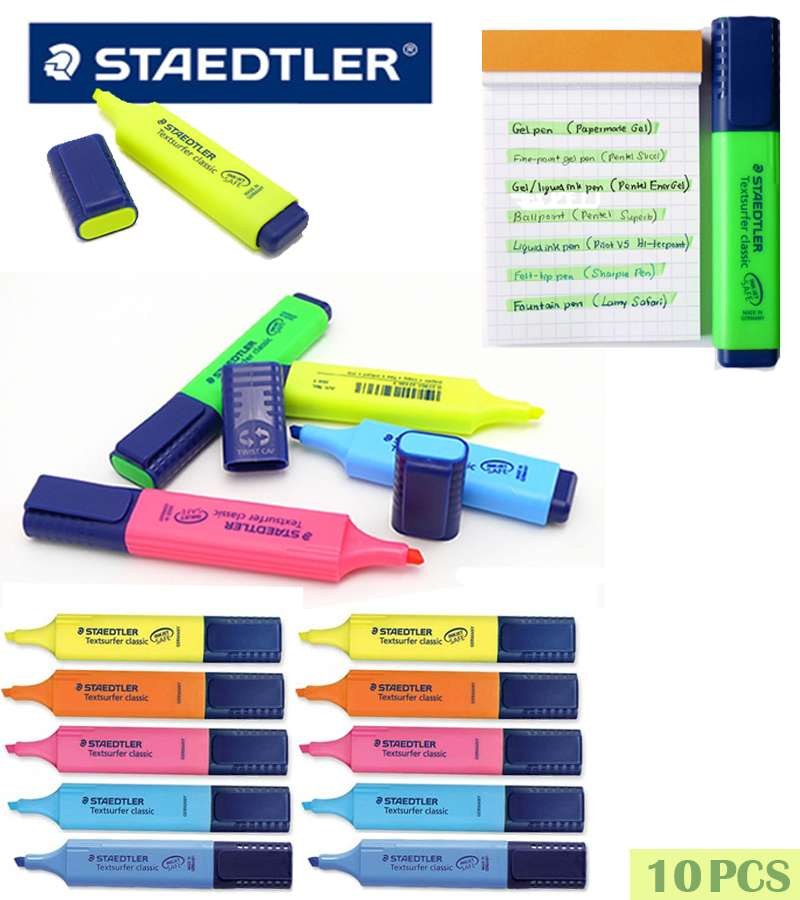 10PCS STAEDTLER Textsurfer Classic Highlighter