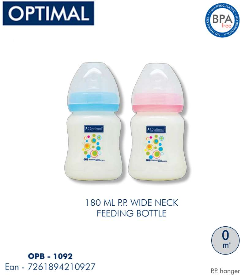 180ml P.P. Wide Neck Feeding Bottle 0M+