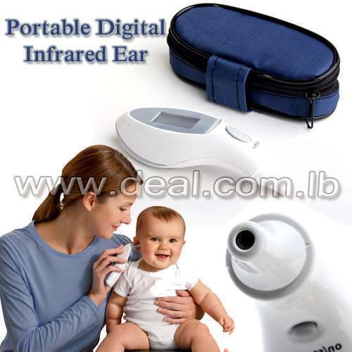 Portable Digital Infrared Ear Thermometer with LCD Display