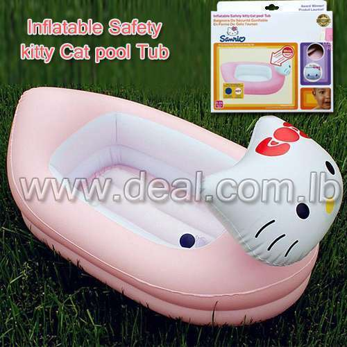 Inflatable Safety kitty Cat pool Tub