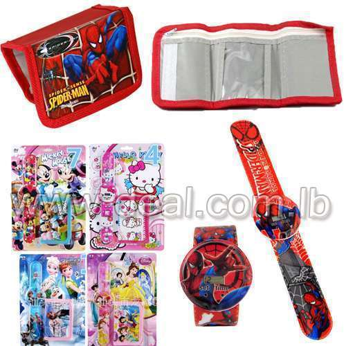 Disney Wallet and folding watch for children