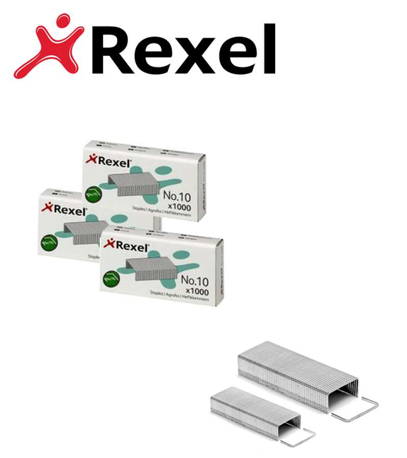 Rexel No. 10 4.5mm Staples 12 Sheet Capacity (Pack of 1000)