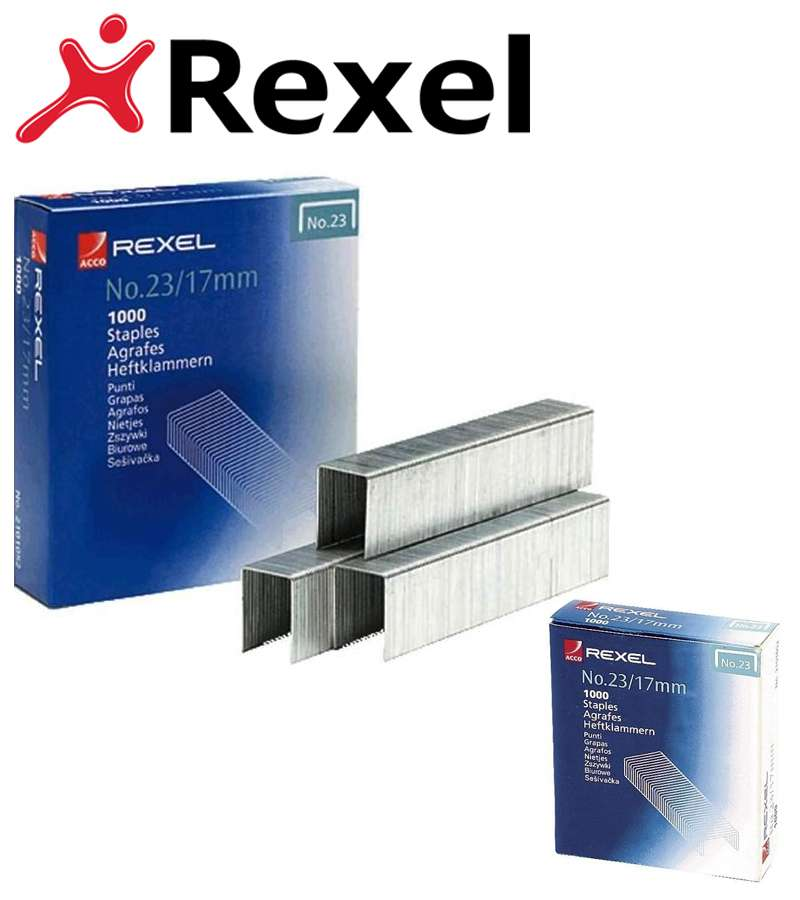 Rexel Heavy Duty Staples No23/17mm Pack 1000 2101052 - RX13521