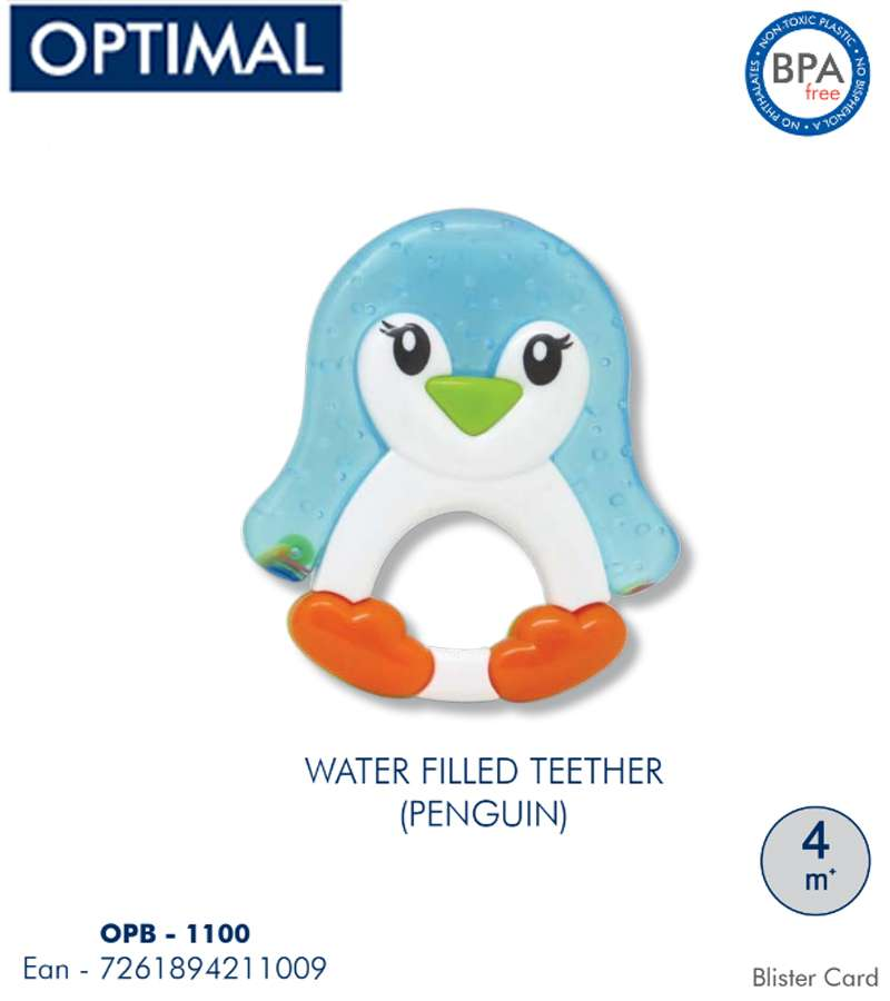 Water Filled Penguin Teether 4M+