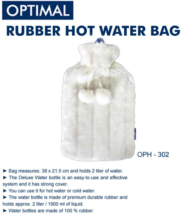 2L Rubber Heat Water Bag with Plush Cover