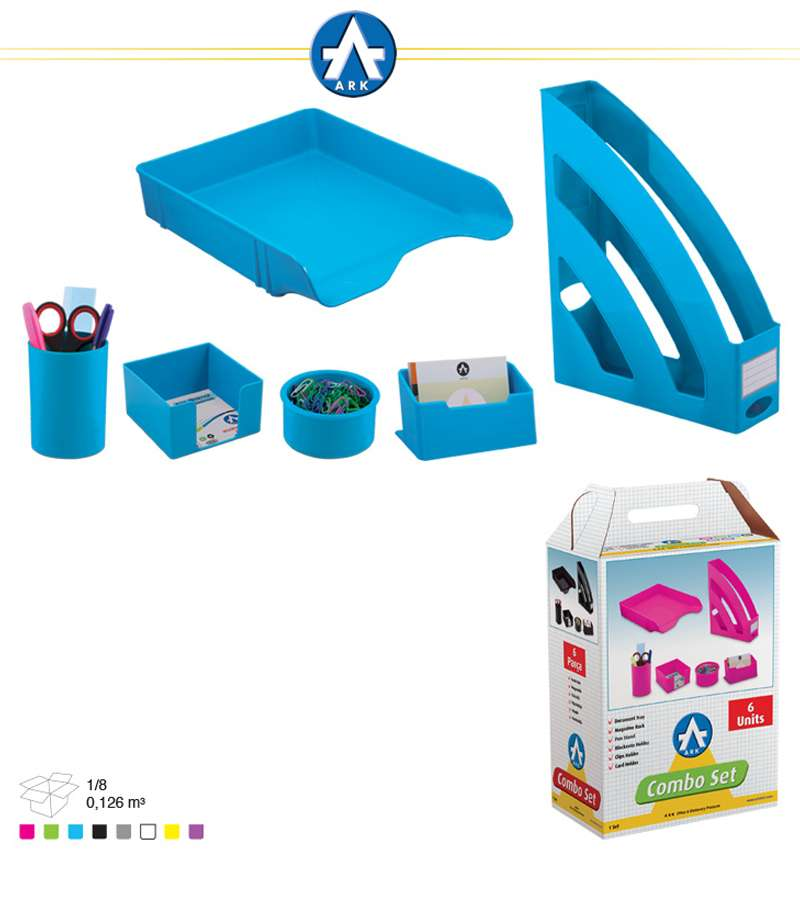 1397 Ark 6 UNITS Combo Office Set Neo Blue