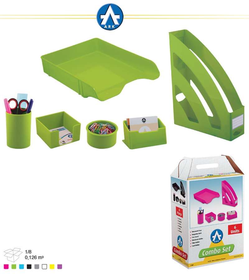 1397 Ark 6 UNITS Combo Office Set Neo Green