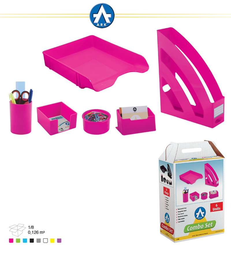 1397 Ark 6 UNITS Combo Office Set Neo Pink