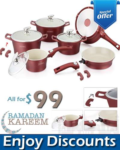14 Pcs Ceramic coating cookware Set