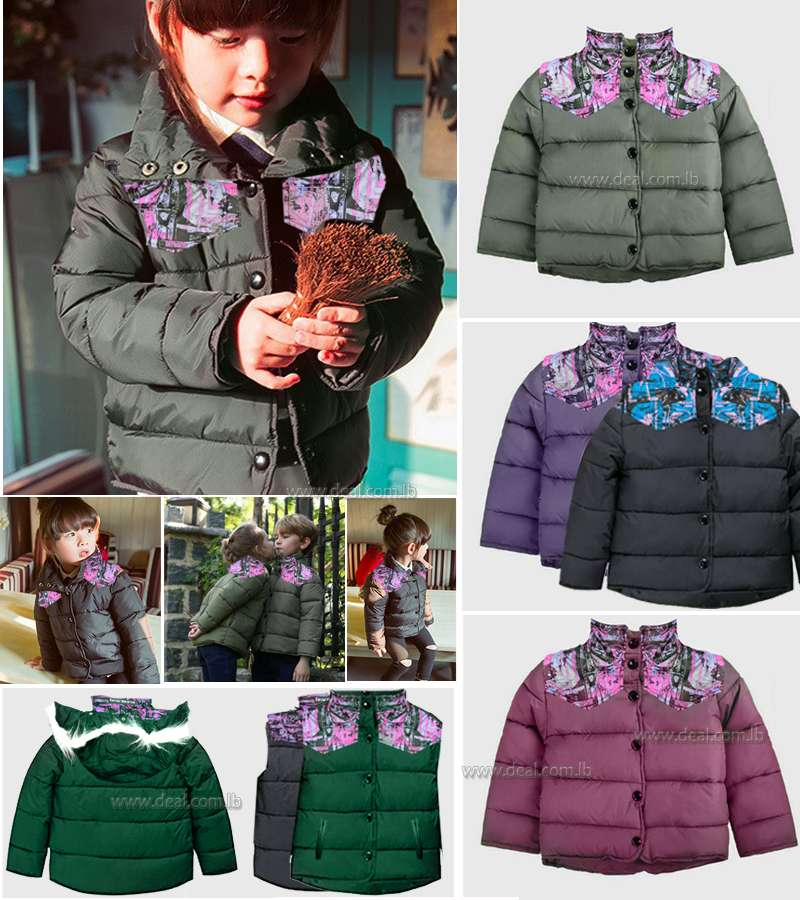 Different Colors Girls and boys Winter Coat Kids Jacket Warm Child Coats Brand Parka Clothes for Children