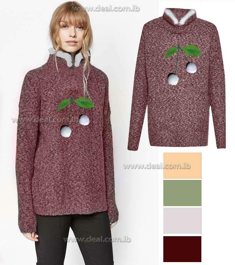 Cherry Sweaters Tops Autumn Winter
