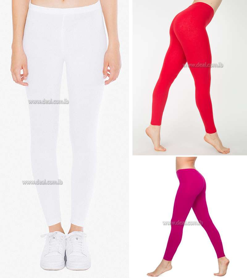 Colored Cotton Spandex Jersey Legging
