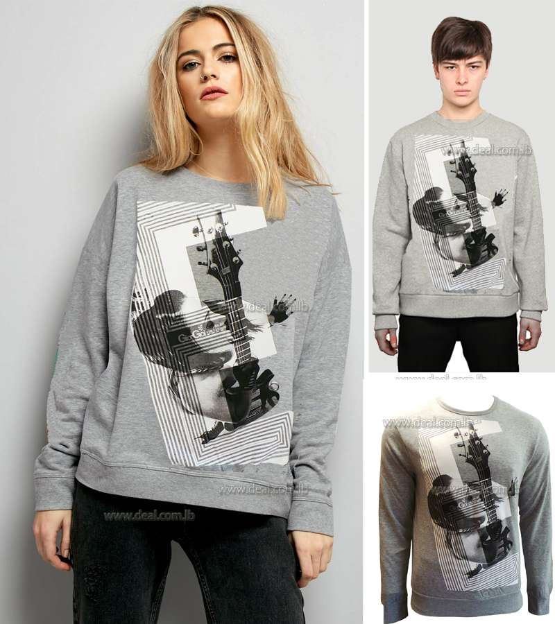 UNISEX Guitar fashion printed winter long sleeve t