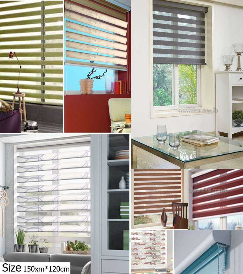 150xm*120cm Duo Roller Blinds Night & Day Blinds starting from 16.66$