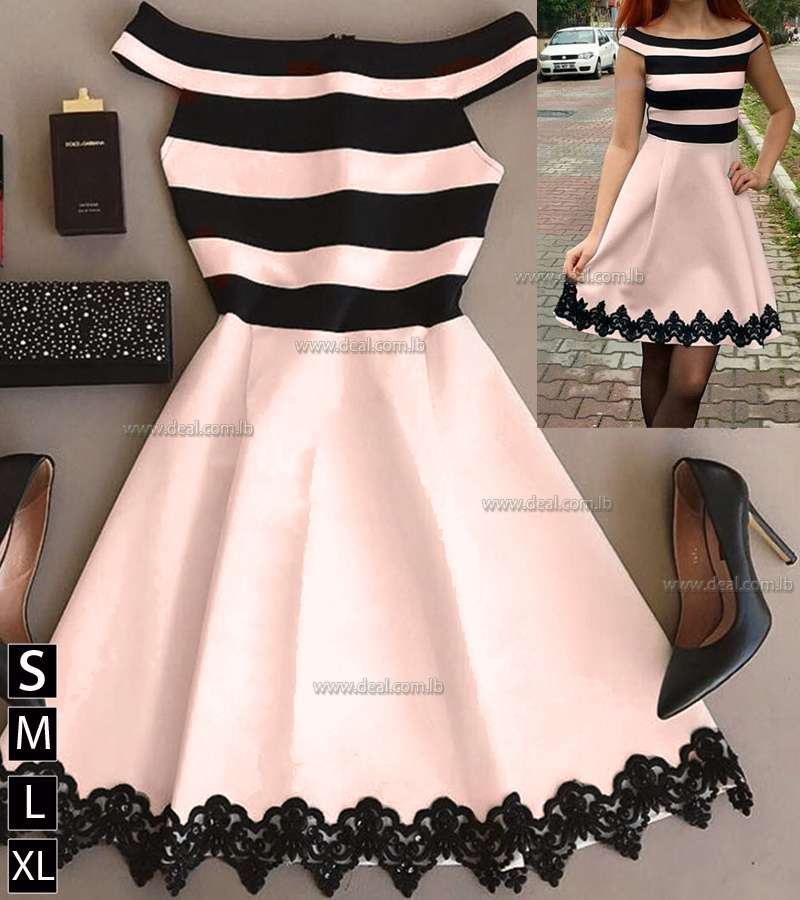 Skirt collar skirt lace detail dress