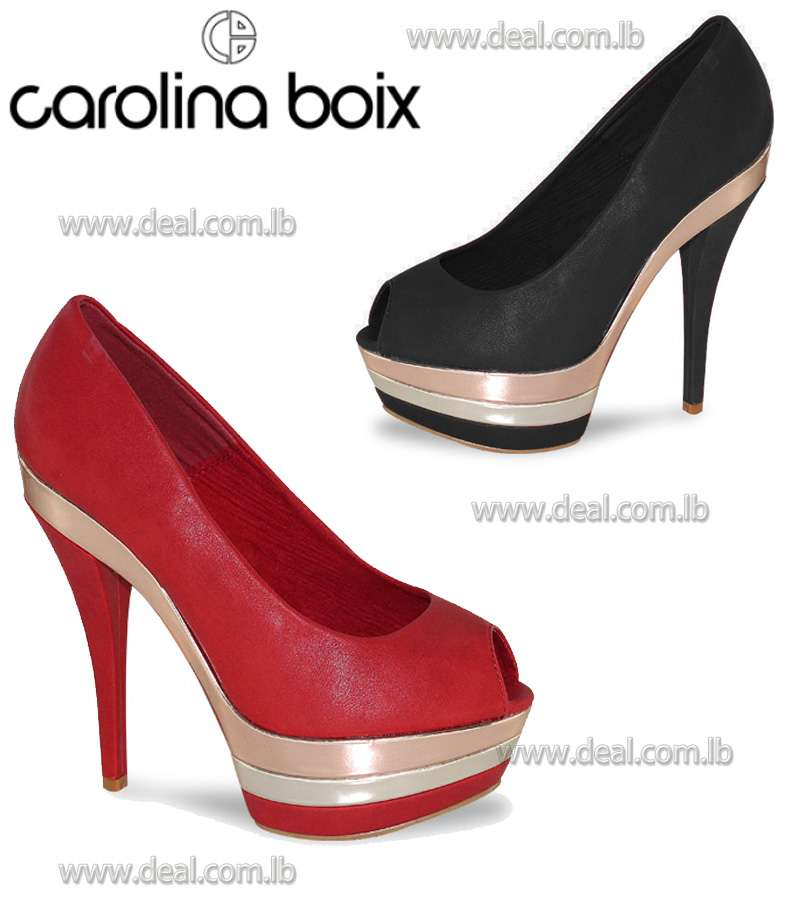 High heeled shoes with triple platform