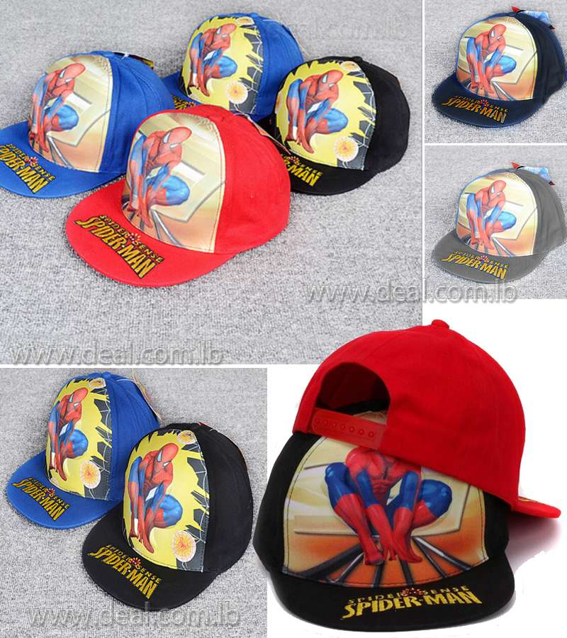 hat Summer Hiphop kids spider man hat boy