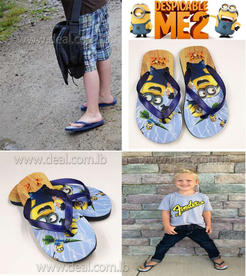 Boys And Girls Minions Slippers shoes Dark Blue color