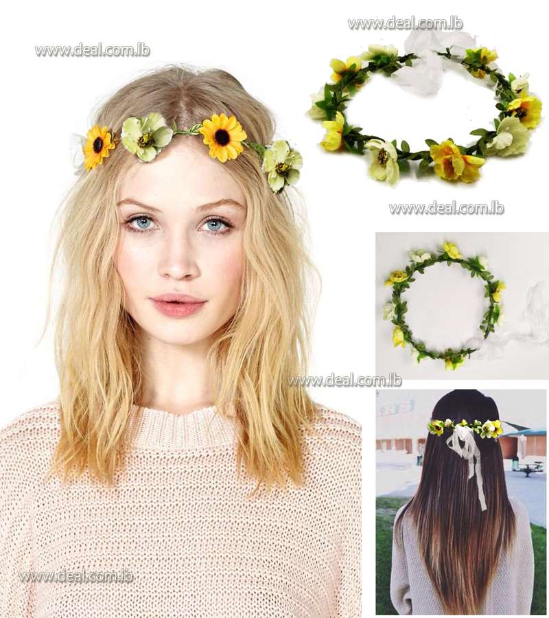 flower crown Yellow