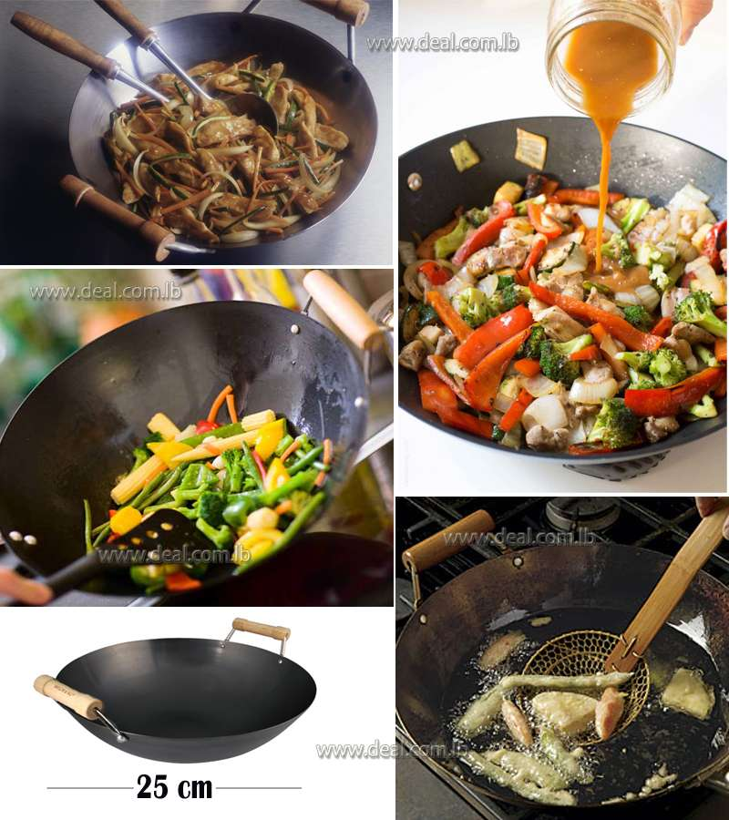 Flat Bottomed Wok Small