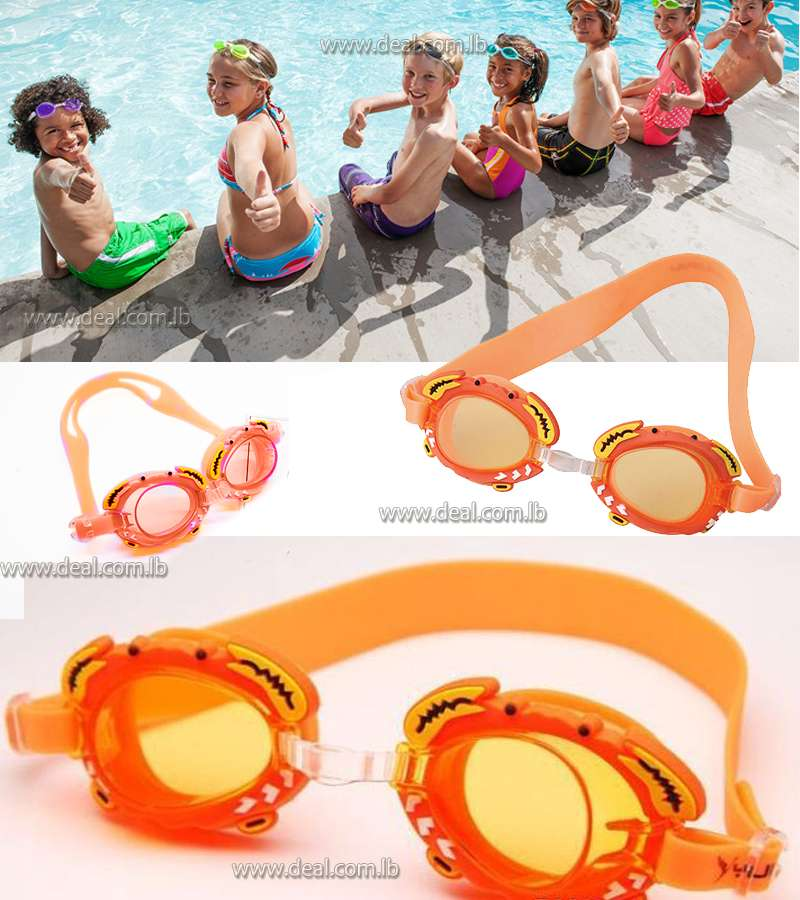 crab Children learn swimming glasses