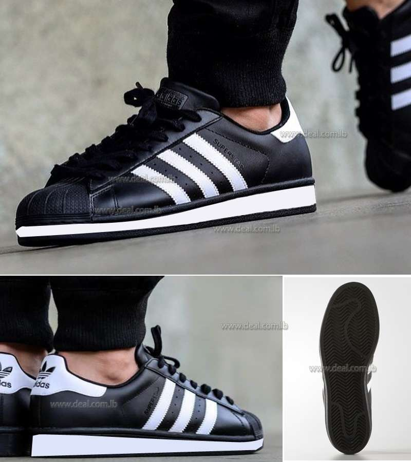 MENS Black SUPERSTAR SHOES