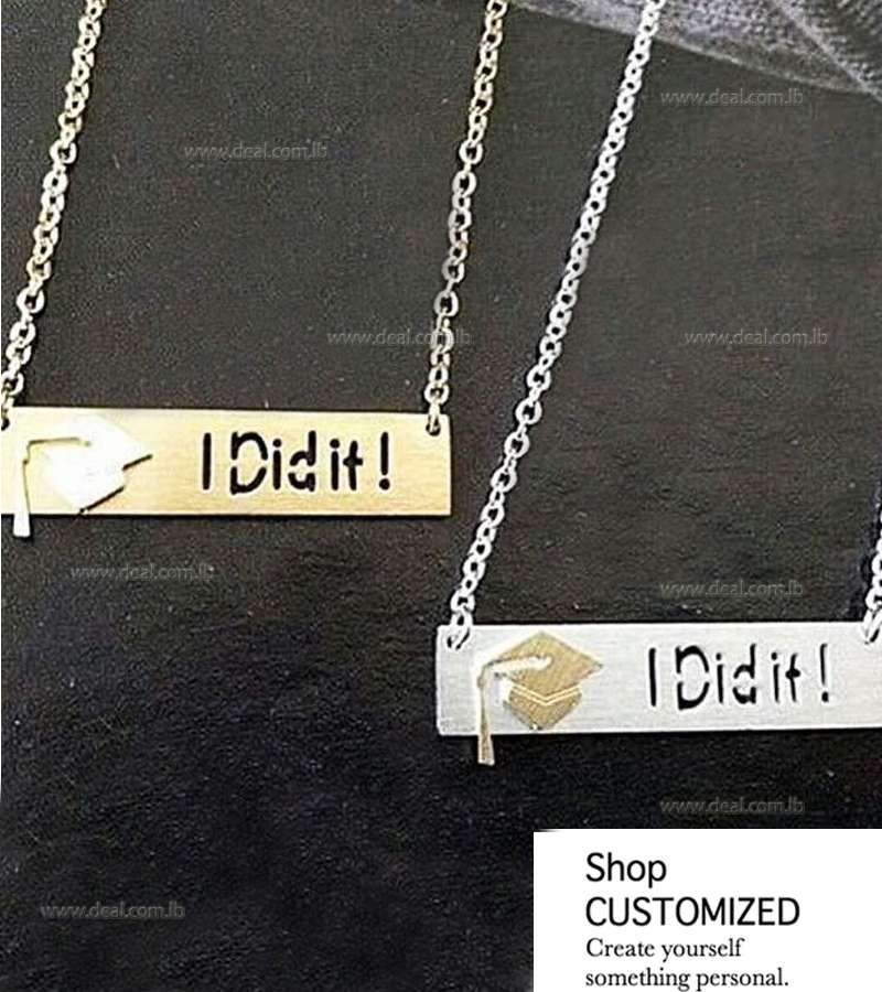 Customized I Did It necklace Plated In Gold Or Silver