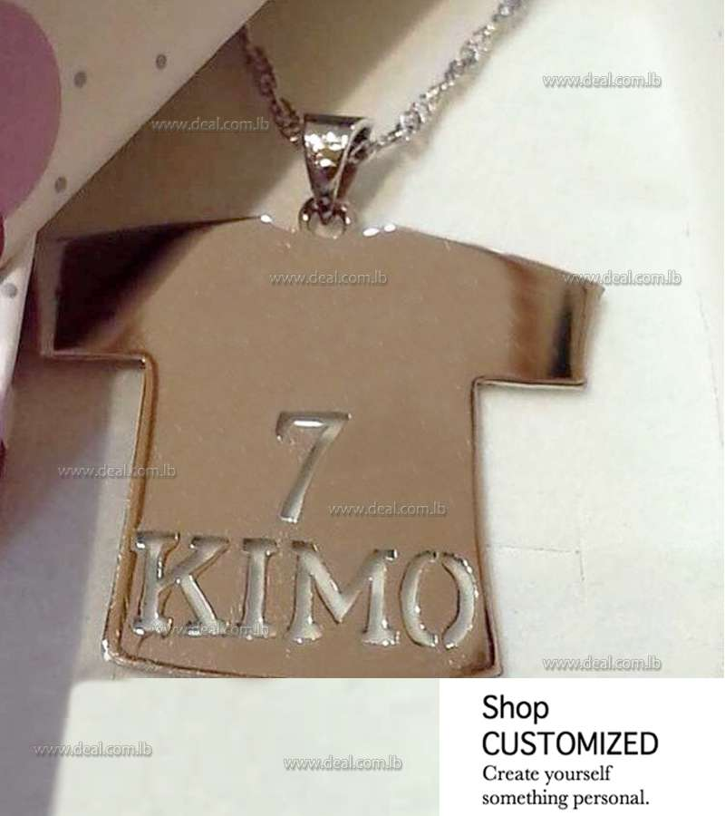 Silver Necklace Number And Name customized T Shirt