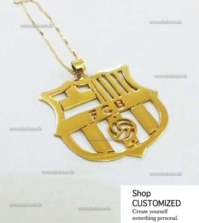 Gold Necklace Barcelona Logo customized