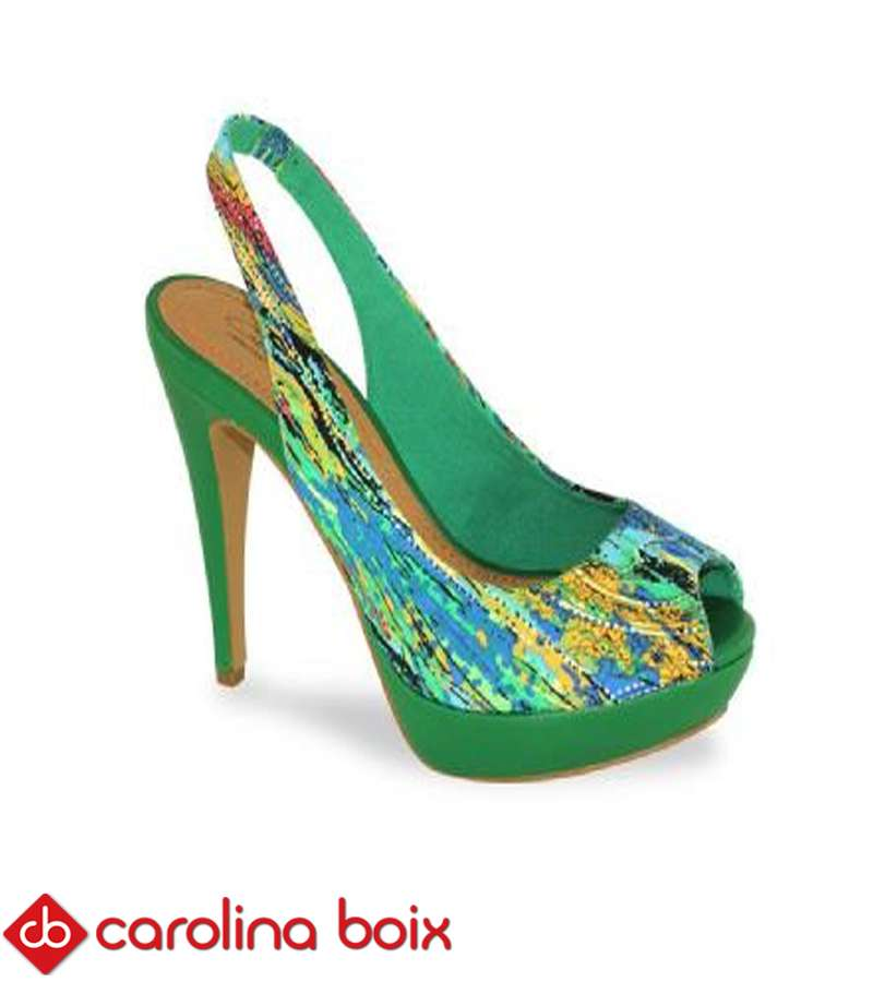 Grass Green Carolina Boix Heels