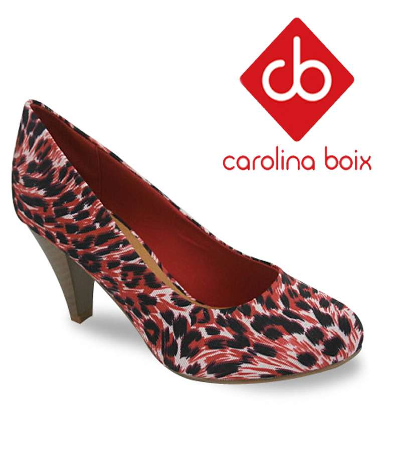 Carolina Boix red Zebra heel