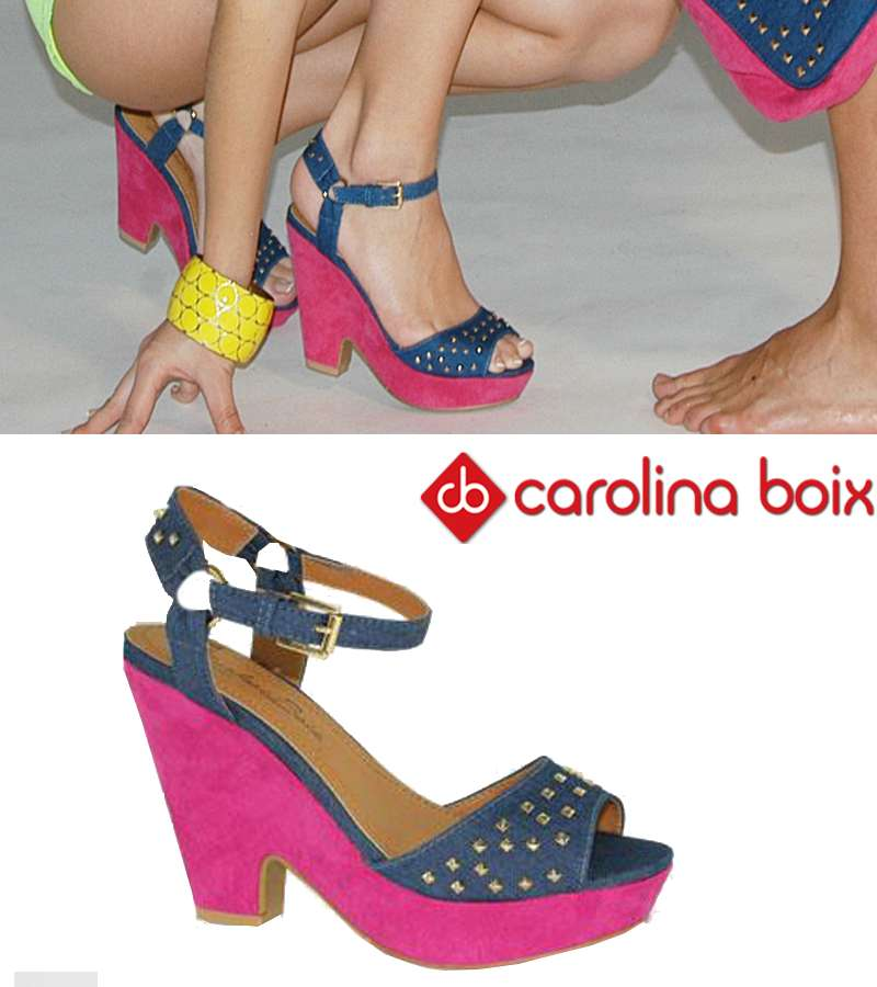 Carolina boix jeans with pins heel