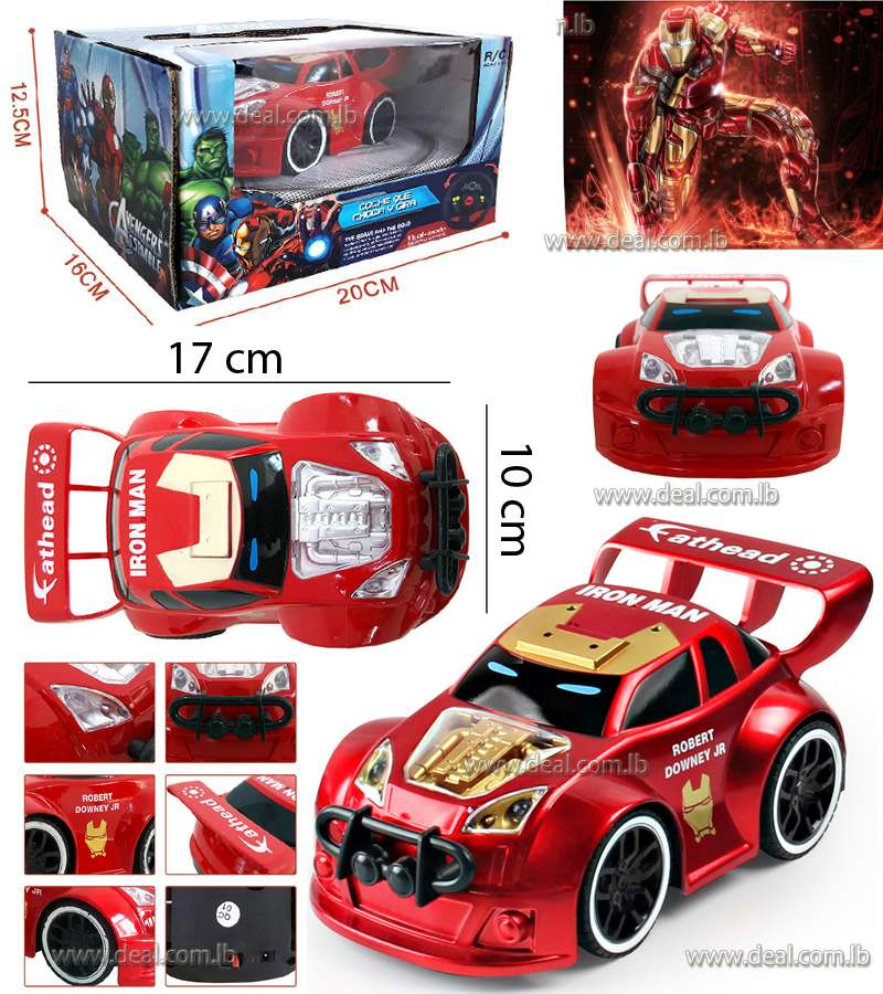 IRON MAN ELECTRIC RC RADIO REMOTE CONTROL CAR KIDS