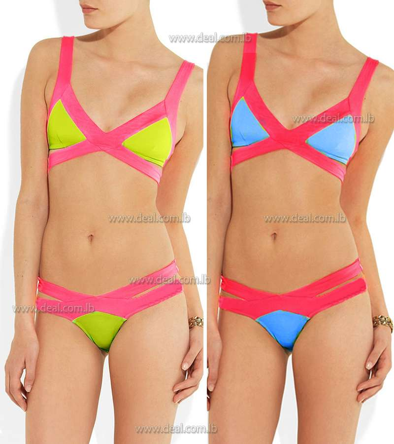 Neon colored 2 pieces  swimsuit