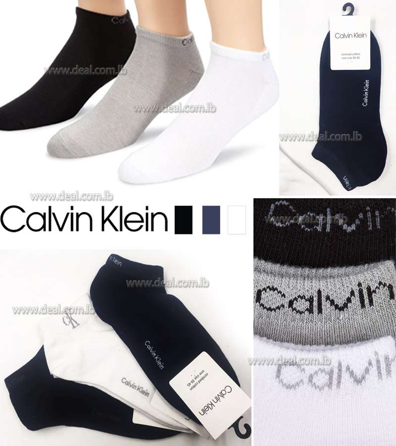 Calvin Klein Coolmax Cotton Athletic Trainer Socks 39-45