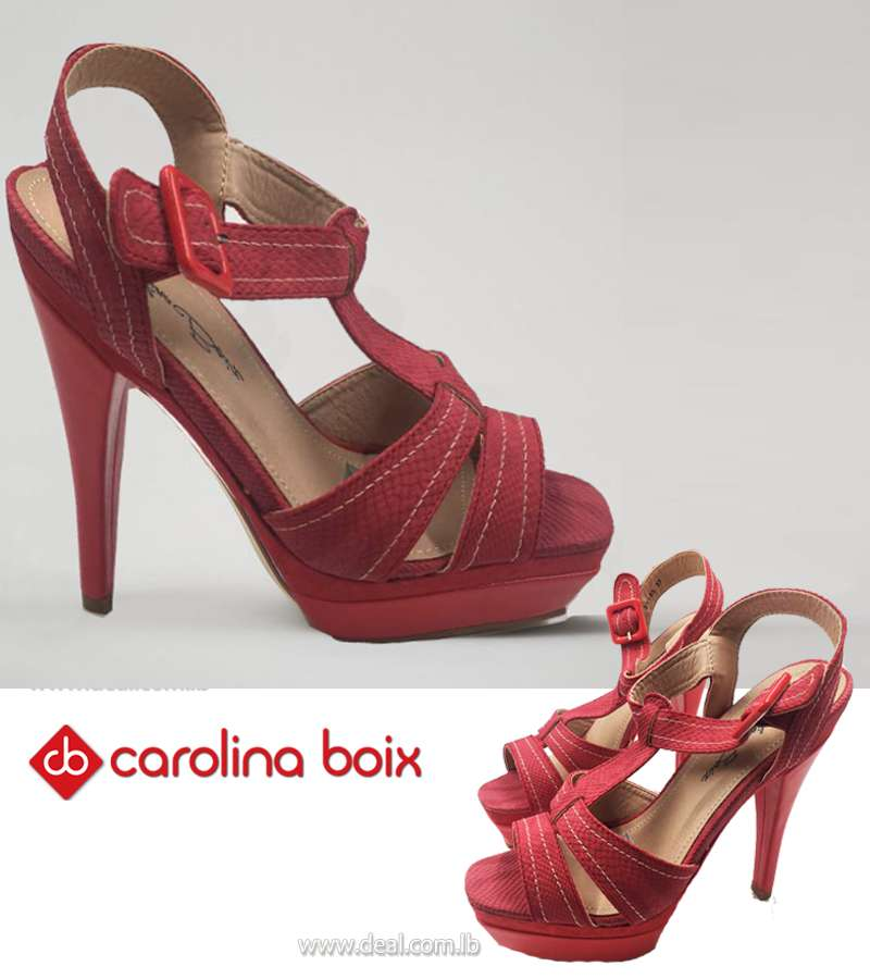 Red Carolina Boix High heels shoes
