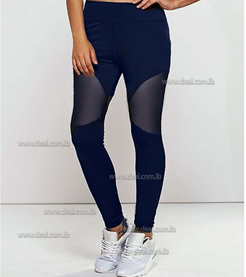 Dark Blue  Transparent Legging