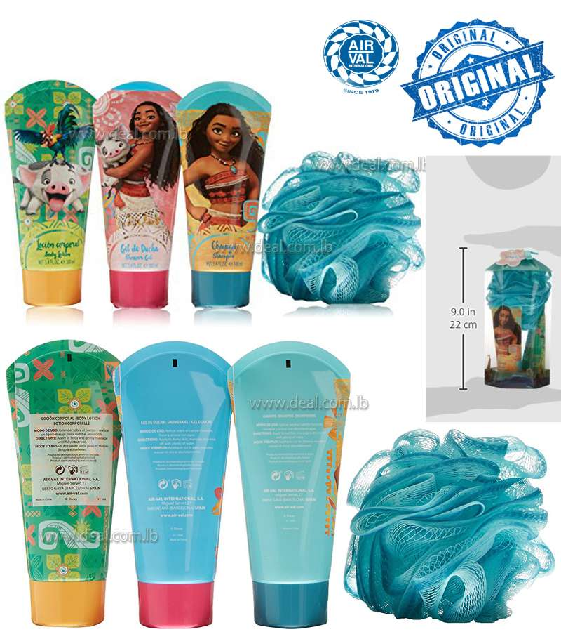 Vaiana Set Gel, Lotion, Shampoo and Sponge � 1 Pack