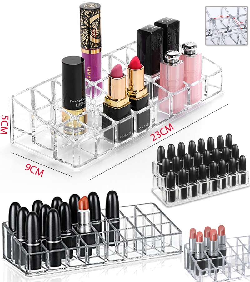 Makeup and Cosmetic Acrylic Organizer Stand 24 Slanted Slots