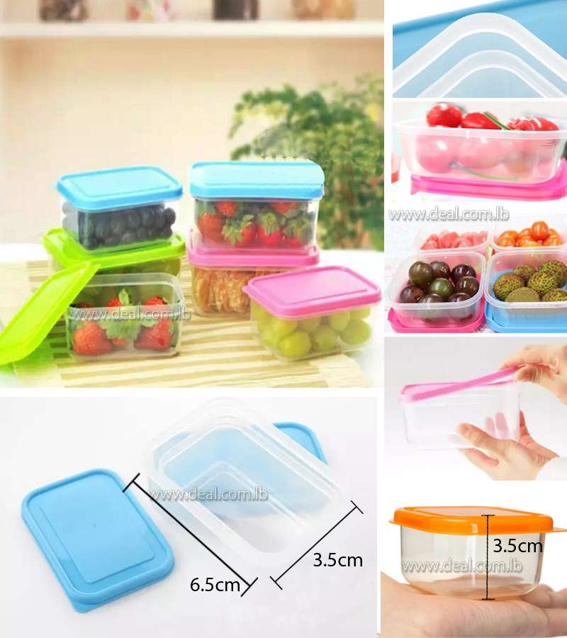 8 pieces  Kitchen Mini Plastic storage box Caning sealing Jars and lids set for food fruit Spice seasoning Condiments
