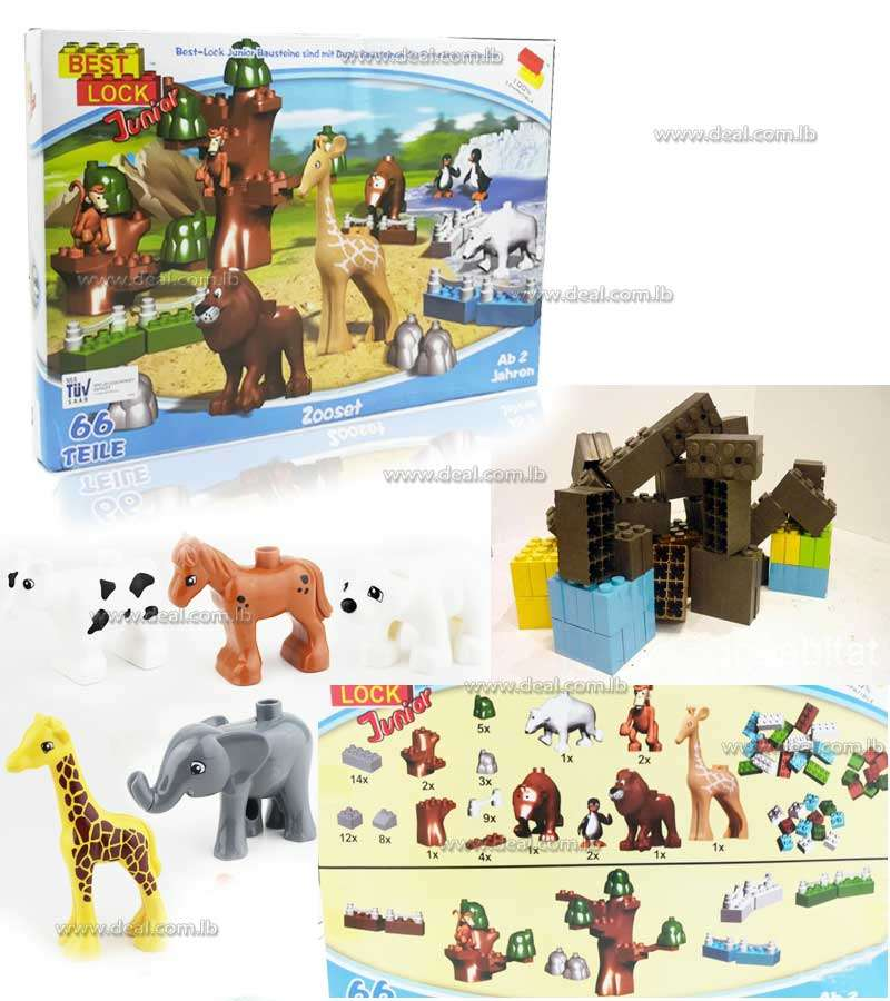 Best+Lock+Junior+Zoo+Set+66+Pieces