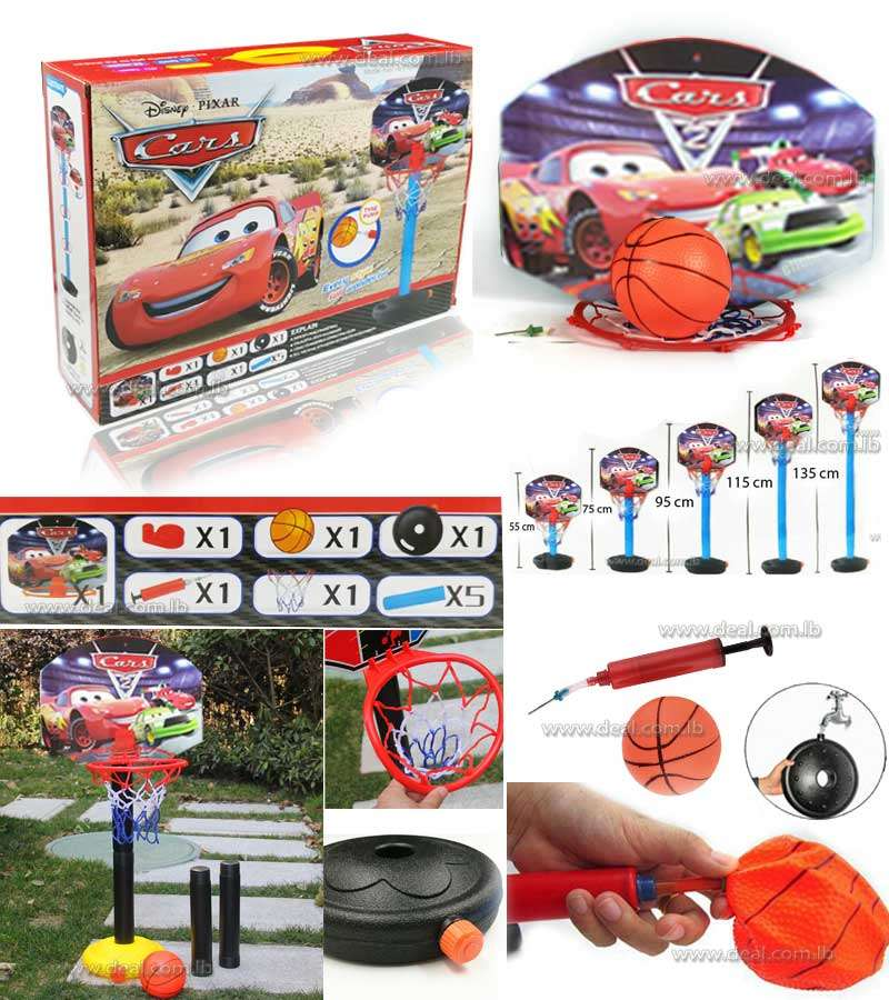 Mc+Queen+Car+Basketball+frame+Basketball+Stands+Combination+Toy