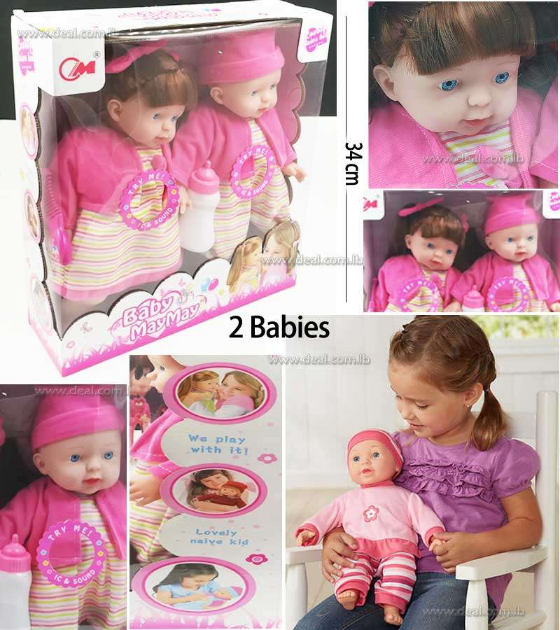 Two Babies Doll One Girl And One Boy Pink