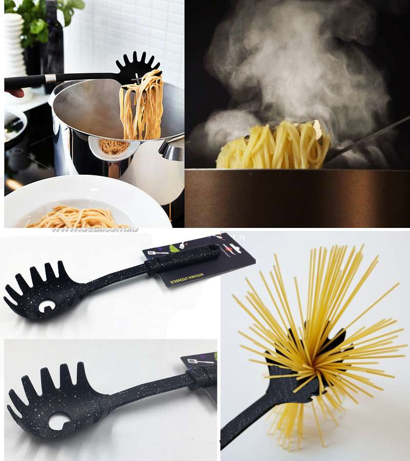 Black spotted  Pasta Spoon