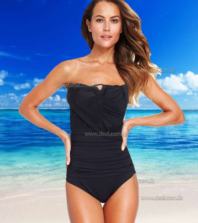Black 1 pieces swimsuit