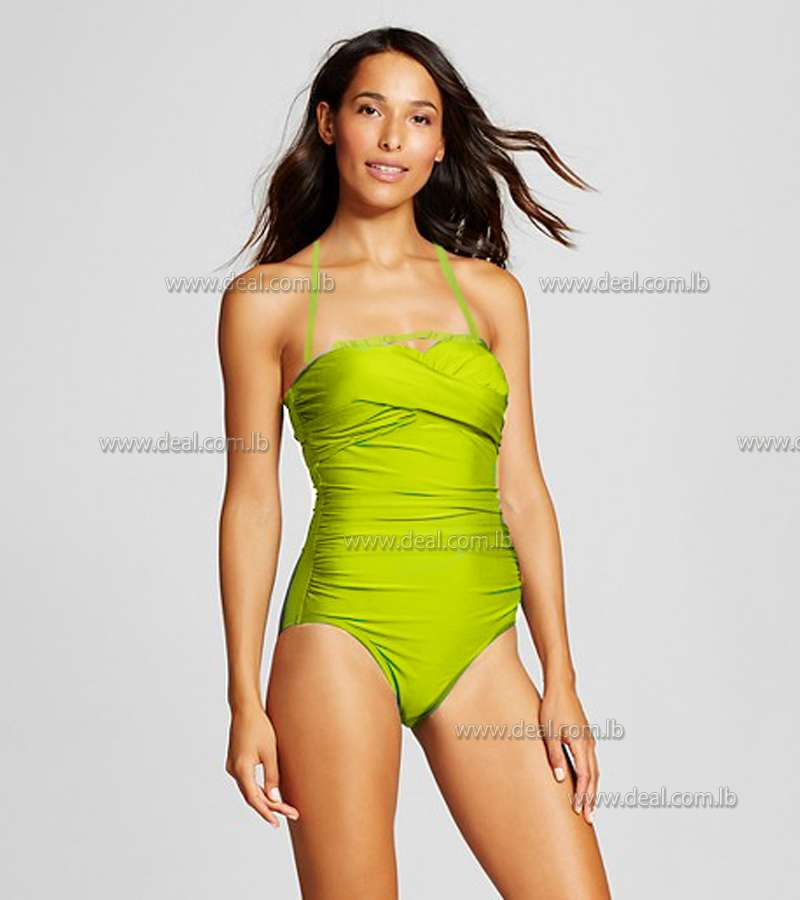light green 1 peices swimsuit