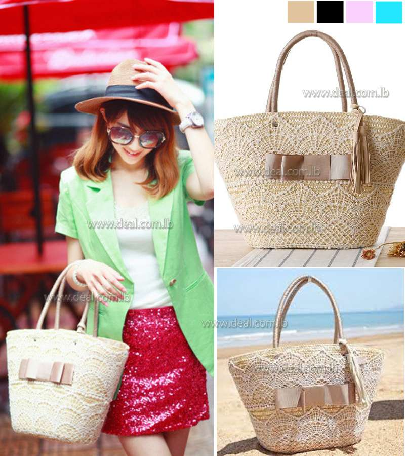 Stone srore New Intellectual Fashion Ladies Handbags Fringed Shoulder Bag Woven Straw Bag Beach Bag