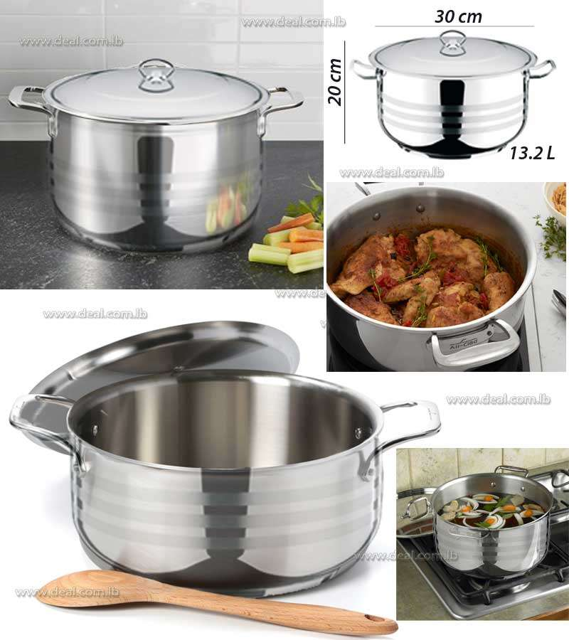 Stainless Steel Deep Pot Viola 13.2L