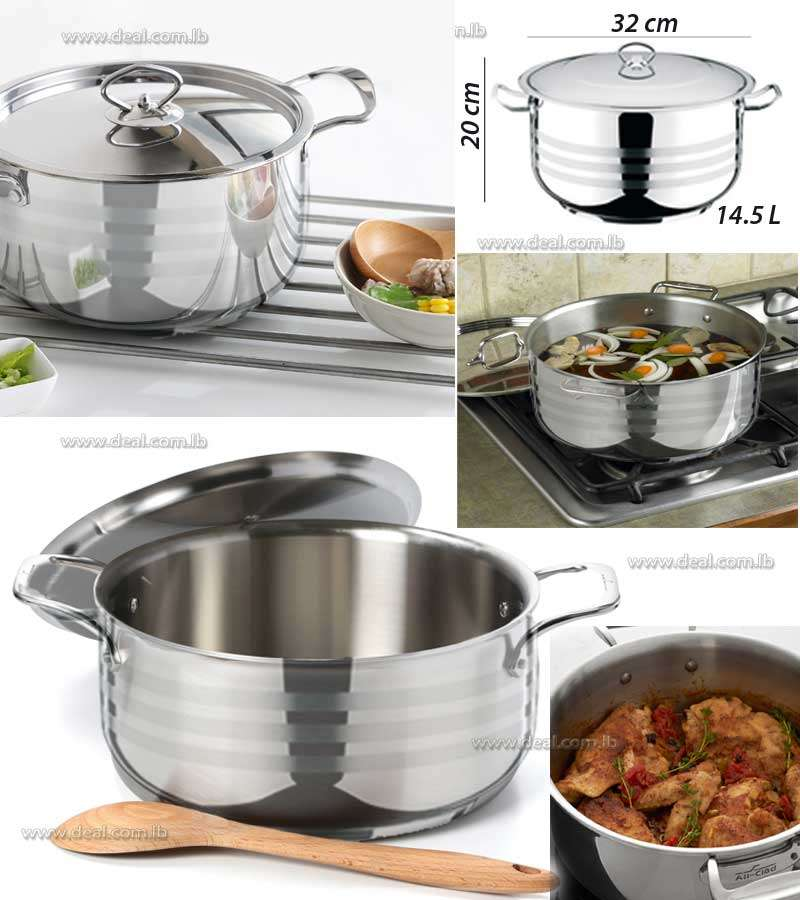 Stainless Steel Deep Pot Viola 14.5L