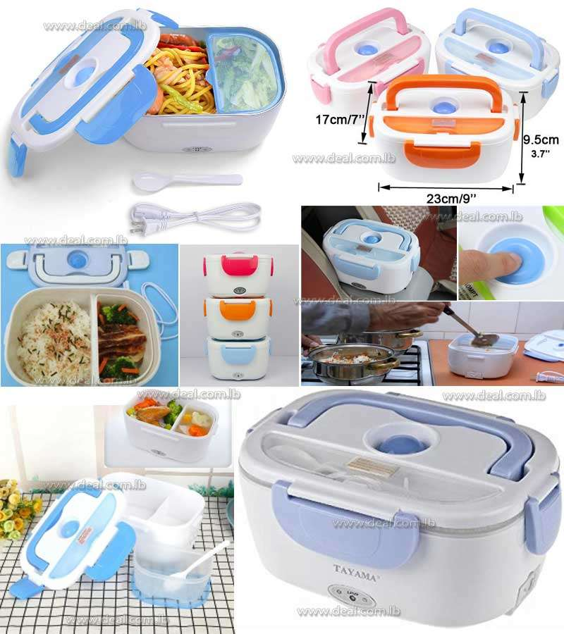 Portable Electric Heating Lunch Box Food Storage Warmer